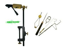 MDI Quality Rotatable Side Lever Action Fly Tying Clamp Vice + 5 Pc Tool Set