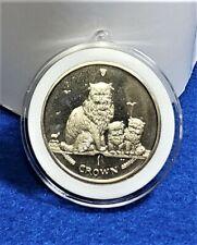 Himalayan Cat Coin 2005 Isle of Man in Decor Capsule