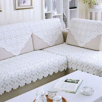 White Flower Tablecloth Lace Embroidery Table Cloth Bedstand Sofa Chair Cover