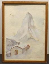 1950-1969 künstlerische Aquarell Handsignierte