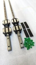 2 x HSR30CA-2R-1600 mm Square Linear Rail & 4 HSR30CA Blcok Bearing
