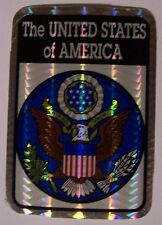 Window Bumper Sticker Patriotic Great Seal of the United States NEW Prismatic