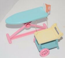 Fisher Price Loving Family Ironing Board With Iron And Tea Cart Pink & Blue