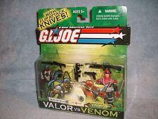 Heavy Duty Razorclaw flip attack knives VALOR vs VENOM comic GI Joe 2003 cobra