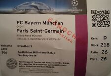 VIP TICKET Eventbox UEFA CL 2017/18 Bayern München - Paris SG