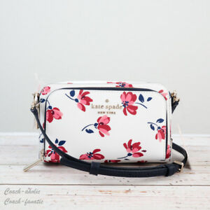 NWT Kate spade Staci Tea Garden Toss Dual Zip Around Crossbody in Multi