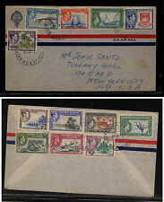 Gilbert & Ellice Islands  40-51 on cover  1951      MS0912