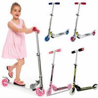 Kinderroller Cityroller Scooter Roller Tretroller Klapp Trittbrett mit LED f 12
