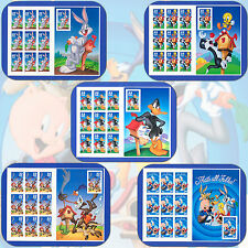 LOONEY TUNES Complete Set  3137, 3204, 3306, 3391, 3534  MINT  50 Stamps w/Bonus