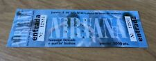 NIRVANA original ticket concert 1992 Spain,Sonic Youth,EX!!!Pearl Jam,Vinyl