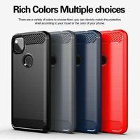 For Google Pixel 5 4A 5G 4 XL Shockproof Carbon Fiber Flexible TPU Case Cover