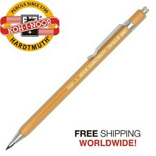KOH-I-NOOR 5201 2mm Diameter Mechanical Clutch Lead Holder Pencil Yellow Drawing