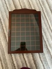Wooden Thimble Display Case Holds 48