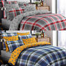 Stag Tartan 100%Brushed Cotton Flannel Flannelette Quilt Duvet Cover Bedding Set
