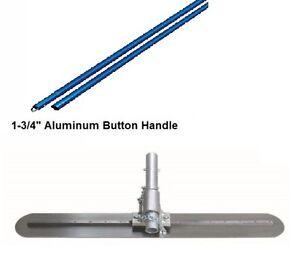 "Kraft Tool 5""x24"" Round End Fresno Trowel w/EZY-Tilt Bracket and Button Handles"