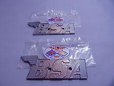 1971 1972 BSA GAS FUEL TANK BADGE SET EMBLEMS LIGHTNING FIREBIRD SCRAMBLER A70
