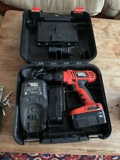 Black & Decker HP188F2B Cordless 18V Hammer Drill, Charger, Case 2x Batteries