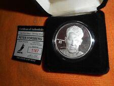 Winter Sport Hockey Player 1 OZ .999 Fine Silver Round Coin NEW