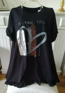 T-Shirt Sweatshirt Longshirt Pullover onesize schwarz ca 42,44,46 L,XL