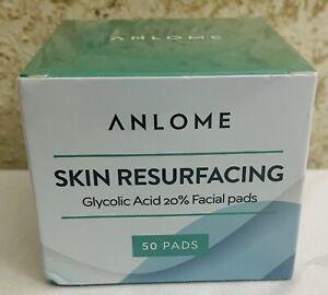 ANLOME Skin Resurfacing Glycolic Acid 20% Facial Pads 50 Pads- Exp. 10/22