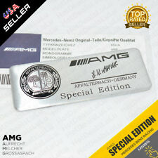 Car Black AMG Special Edition Interior Decal Sticker Badge Decoration Logo B&W