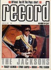 Jacksons Tracey Ullman Cyndi Lauper Duran Duran Phil Fearon Squeeze mag