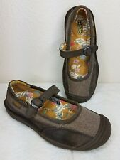 KEEN Cush Brown Textile Leather Mary Jane Shoes Women's US Size 5