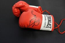 Autographed Mini Boxing Gloves Miguel Cotto