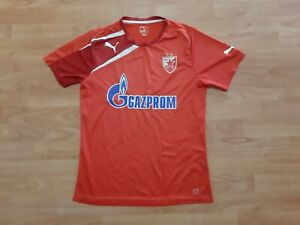 Red Star Belgrade Training Shirt Puma Gazprom Crvena Zvezda Serbia Jersey Size M