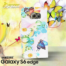 Butterfly Wallet Card Flip Leather Case For Samsung Galaxy S6 Edge fancy Cover