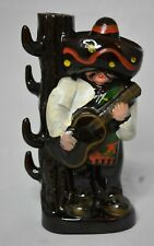 Man with Sombrero and Cactus Decanter or Vase Japan Marked 7 7/8 inches tall