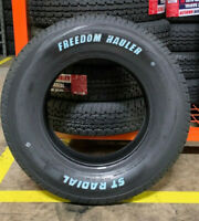 4 NEW ST 205/75R15 Freedom Hauler White letter Trailer Tires 8 PLY 205 75 15 ST