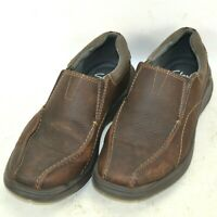 Clarks Cotrell Leather Loafers Shoes Mens Size 8.5 M US Dark Brown Ortholite