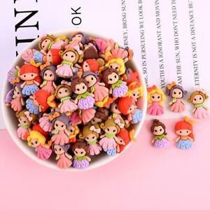 20pc Mixed Resin Cartoon Mini Princess Flatback Buttons for Crafts Decorations