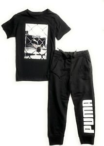 PUMA Boy's 2 pcs Set  A Jogger Pants and  A T-Shirt (Ages 4-7 Years)