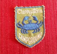 Vintage Cherrystone Campground Cape Charles, VA Embroidered Sew On Patch Crab