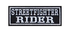Streetfighter Rider Biker parches Patch rocker perchas imagen sotana Motorcycle