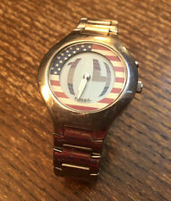 Men's Fossil BIg Tic Ana-Digi Combo US Flag Dial Animated Seconds Watch JR-8077