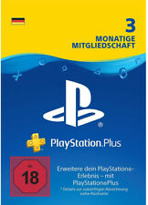 PlayStation Plus 90 Tage [DE Store] PSN Key PSP PS4 Live Network Code 3 Monate