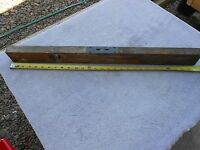 "VINTAGE ""STANLEY GENUINE CHERRY""  WOOD CARPENTER LEVEL ~ 28"" ~ WORKING BUBBLES"