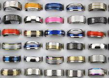 15//50//100//500 Wholesale Mix Lot fashion en acier inoxydable Hommes Femmes Bagues