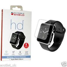 ZAGG InvisibleShield HD Clarity 38mm SCREEN PROTECTOR for Apple Watch NEW