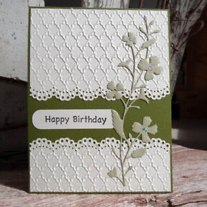 1*Cover Lace Design Metal Cutting Die For DIY Scrapbooking Album Paper Card