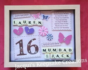 16th BIRTHDAY GIFT Frame Personalised Picture Keepsake