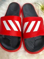 MEN'S ADIDAS Alphabounce SLIDE SANDALS Size 13 Red Black and White