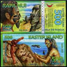EASTER ISLAND 500 RONGO 2012 POLYMER NEW HOLOGRAM NEAR SOLID UNC