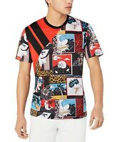 INC Mens T-Shirt Red Black Size 3XL Big & Tall Comic Shark Graphic Tee $39 #010
