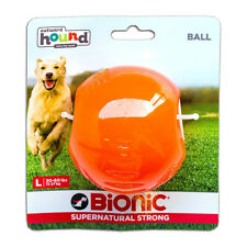 Bionic Ball Orange Durable Dog Treat Toy Large | Strong Tough Hard Chew Floats