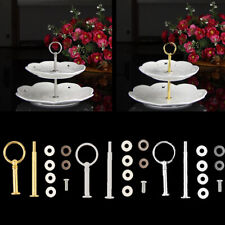 2 Tier Round Top Cake Stand Holder Fruit Plate Handle Fitting Hardware Rod