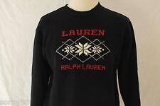 Ralph Lauren Large Women's Christmas Sweater VTG Snowflakes Ski Snowboard